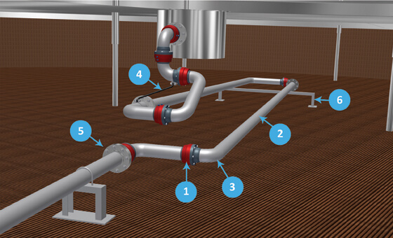 swivel joint articulated drain system